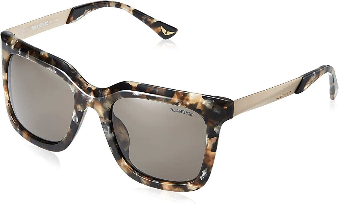 Zadig & Voltaire Women's SZV070G Cateye Sunglasses Multi 55 mm