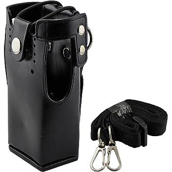 BUBM Adjustable Sheath Case Holder Compatible with Two Way Radio//Ham Radio//Cellphone for Baofeng//Motorola//Midland//Uniden Radios iPhone4 4s 5 5s 6 Plus Samsung with Shoulder Straps