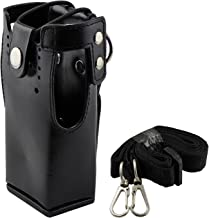 abcGoodefg Motorola Hard Leather Case Carrying Holder Holster for Motorola Two Way Radio HT750 HT1250 HT1550 GP320 GP340 GP360