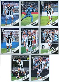2019 Donruss Optic Soccer Juventus Veteran Team Set of 8 Cards: Cristiano Ronaldo(#9), Mario Mandzukic(#10), Paulo Dybala(#11), Blaise Matuidi(#12), Miralem Pjanic(#13), Leonardo Bonucci(#14), Giorgio Chiellini(#15), Wojciech Szczesny(#16)