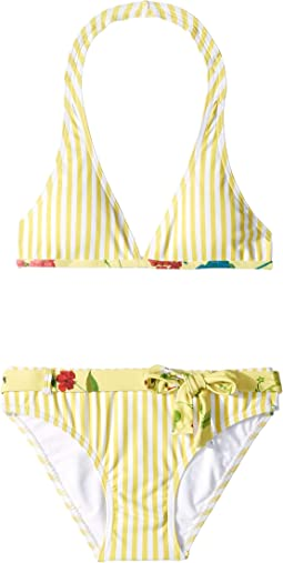 Stripped Two-Piece Swimsuit (Big Kids)