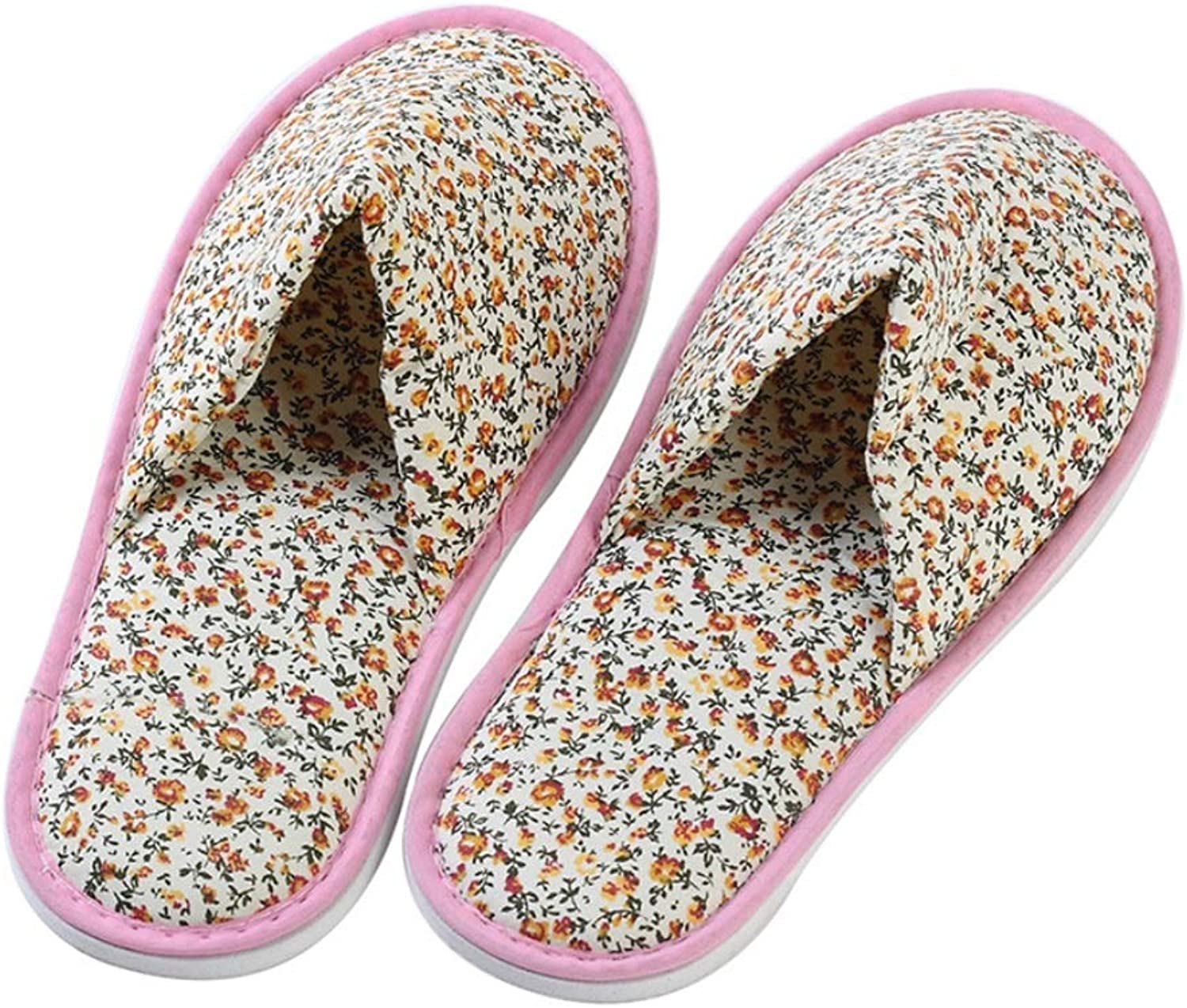 Slipper, Women's for Guests Disposable shoes Warm Indoor Small Floral Non-Slip One Size Comfortable Beauty Salon for Home Hotel