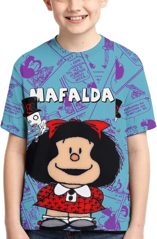 Mafalda T Shirt,3D Print Cute Polo Shirts Short Sleeve Tops,for Youth Tee Boys Girls