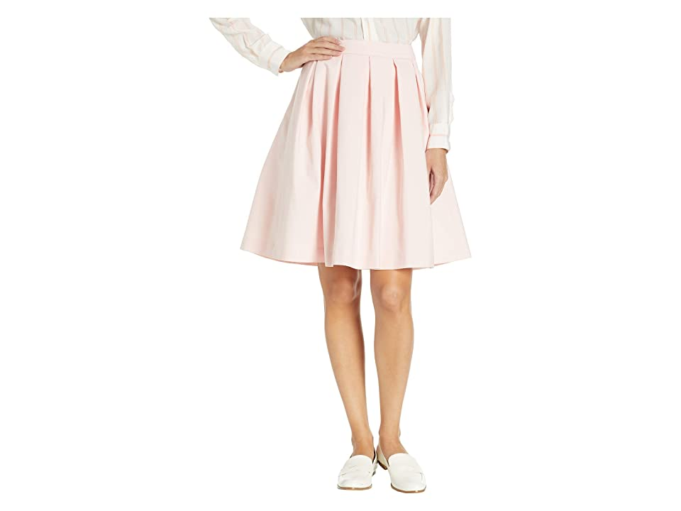 Calvin Klein Pleated A-Line Skirt (Rose) Women