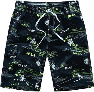 448325b00e MODOQO Men's Casual Loose Fit Swim Trunks Summer Quick Dry Straight  Swimwear Shorts Pants with Pocket