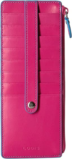 Audrey RFID Card Case With Zip Pocket