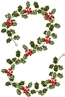 Woooow Christmas Red Berry Garland, Artificial Foliage Greenery Fireplace Décor & Home Xmas Decoration Indoor/Outdoor Deco...