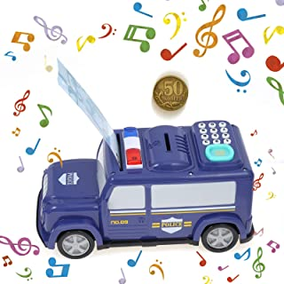 Globalstore Kids Money Banks, Car Piggy Bank, Early Learning Educational Kids Electronic Car Coin Bank, Armored Car ATM Pi...