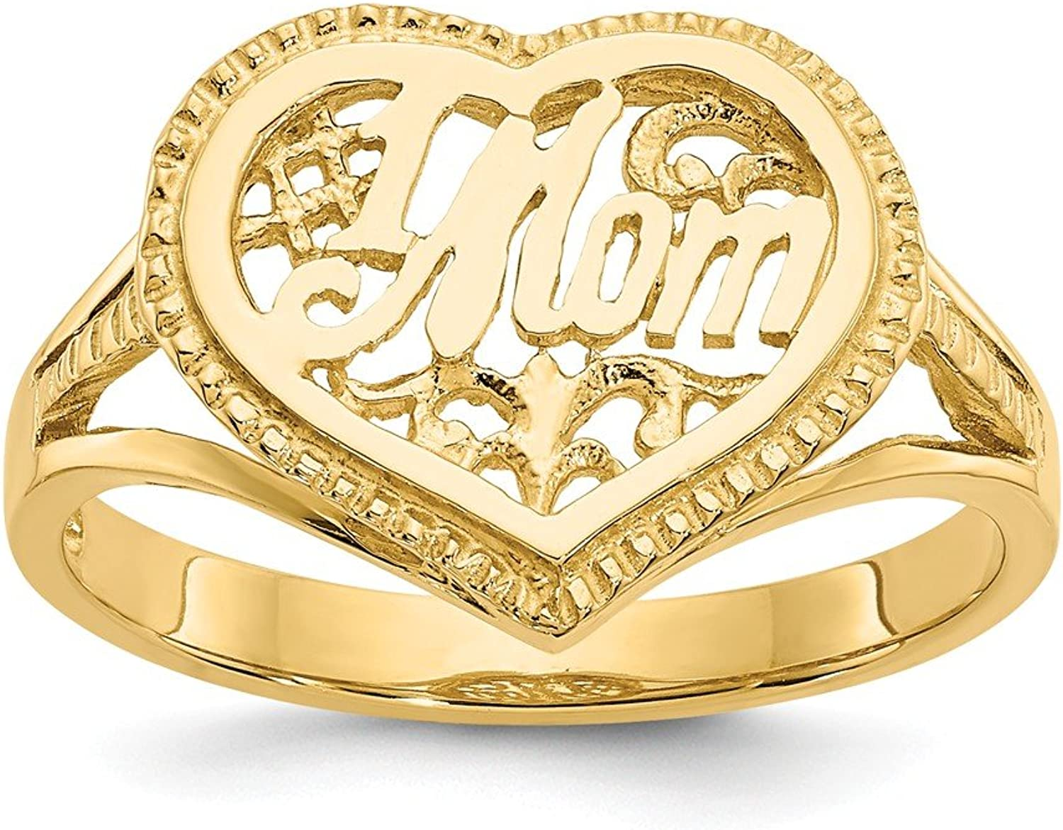 14k Yellow gold Heart Ring for Women Size 7