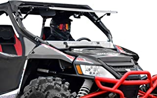 SuperATV Scratch Resistant 3-IN-1 Flip Windshield for Arctic Cat Wildcat 1000/4 1000 (2012-2017) - Hard Coated for Extreme Durability and Long Life - 3 Different Settings!