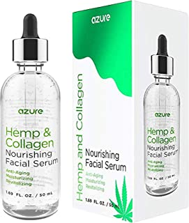 Hemp & Collagen Nourishing Facial Serum - Moisturizes   Anti Aging   Revitalizes Skin Reducing Appearance Of Wrinkles and Fine Lines - 50mL