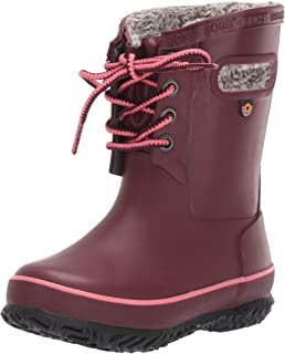 BOGS Kids' Amanda Plush Lace Insulated Winter Waterproof Rain Snow Boot
