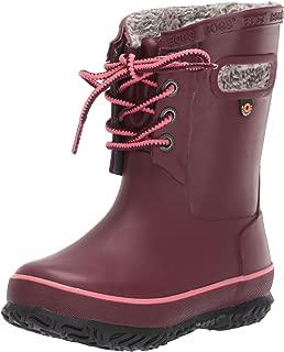BOGS Kids' Amanda Plush Lace Insulated Winter Waterproof Rain Snow Boot