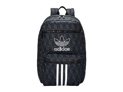 adidas Originals Originals National 3-Stripes Backpack (Black/Bold Onix) Backpack Bags