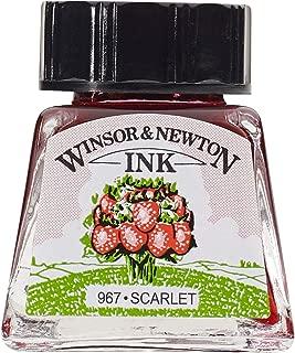 Winsor & Newton Drawing Ink Bottle, 14ml, Scarlet