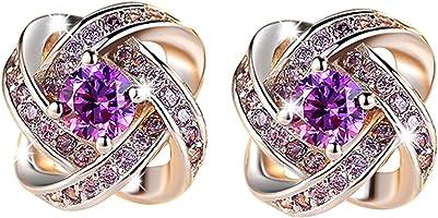 buyanputra Fashion Jewelry Women Ear Stud Cubic Zirconia Rhinestone Earrings