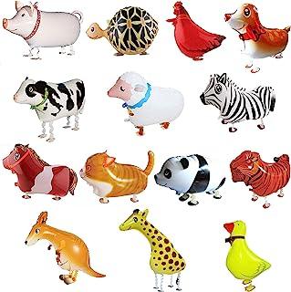 SOTOGO 10 Pieces Walking Animal Balloons Pet Dog Balloons Dog Balloon Toys Air Walkers For Kids Gift Birthday Party Decor