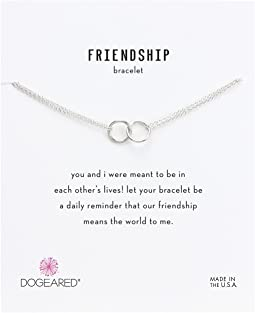 Friendship Double Linked Rings Chain Bracelet