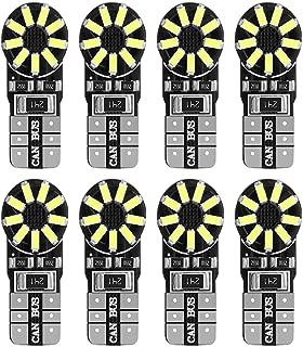 HOLDCY T10 194 LED Light Bulbs - White 18 SMD 3014 LED Chipsets Canbus Error Free,  for Car Interior Lights - Trunk Backup Light - Dome Lights - License Plate Lamp (Pack of 8)