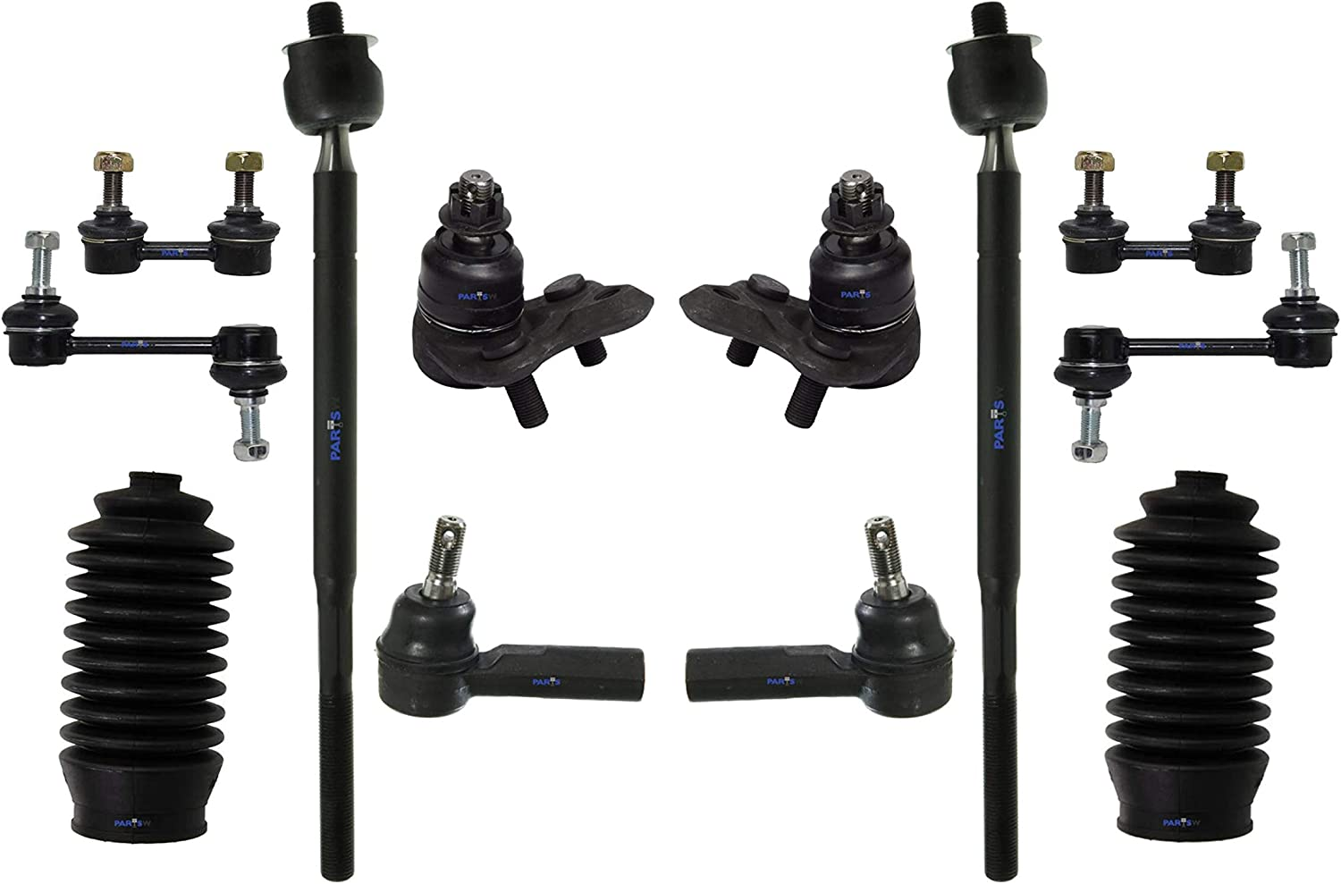 12 Pc Surprise price Rear Front Complete Suspension Bar Rod Tie Ends Sway Oakland Mall Kit