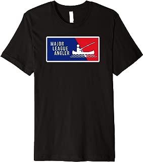 Kayak Fishing Angler Love to Fish Major League Gift for Dad Premium T-Shirt