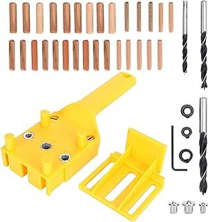 Handheld houtbewerking deuvel jig set, deuvels zakgat jig puncher tool 41 stks/set handheld houtbewerking deuvel jig kit, ...
