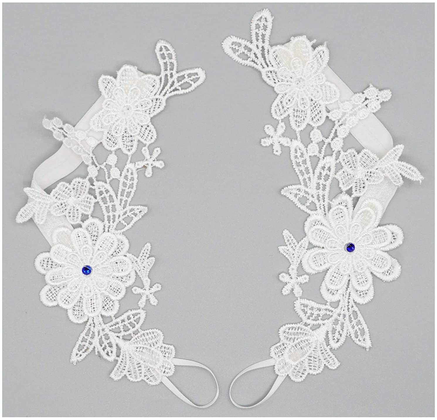 Bellady 2 PCS Crochet Barefoot Sandals Lace Anklet Bangles Beach Wedding Accessories