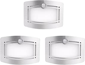 Motion Sensor Closet Lights, OxyLED Wall Lights Battery Operated, Luxury Aluminum Stick-on Anywhere Wall Lamp Sconces, Motion Sensor Indoor Security Light for Stair, Kitchen, Bathroom, Hallway, 3 Pack