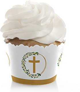 Elegant Cross - Religious Party Decorations - Party Cupcake Wrappers - Set of 12