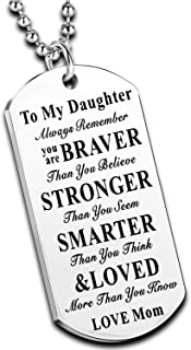 Nimteve Inspirational Necklace for Daughter Son Gifts Dog Tag Necklace Belive Confident Gifts for Son Daughter