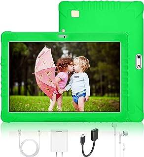 Tablet para Niños 10 Pulgadas 4G IPS/HD, 2GB RAM 32GB ROM, Dual SIM Dual Cámara Batería de 8500mAh, Android 7.1 Procesador de Quad-Core, Tablet PC Google Play, Juegos Educativos (Verde)