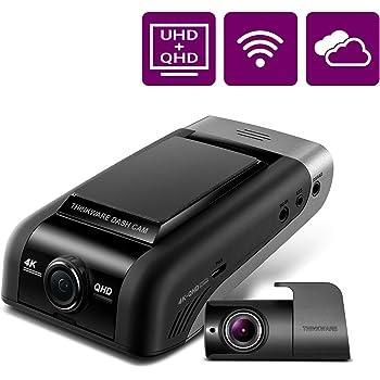 THINKWARE U1000 Dual Dash Cam 4K UHD 3840X2160 Front Cam, 2K 2560X1440 Rear Cam, 150° Wide Angle Dashboard Camera Recorder with G-Sensor, w/Sony Sensor, Parking Mode, WiFi, GPS, Cloud Enabled