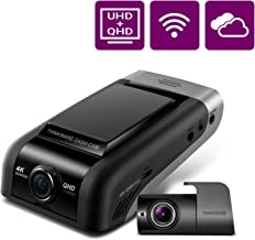 THINKWARE U1000 Dual Dash Cam 4K UHD 3840X2160 Front Cam, 2K 2560X1440 Rear Cam, 150° Wide Angle Dashboard Camera Recorder with G-Sensor, w/Sony Sensor, Parking Mode, WiFi, GPS, Cloud Enabled