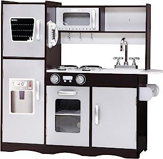 Play Kitchen, Keezi Kids Children Toy Pretend Wooden Kitchen Set