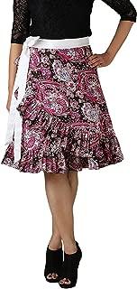 Indian Dresses Store The Shopping Fever Crepe Women's Skirt Blue