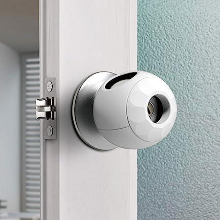 Childproof Door Knob Covers Babyproof (4 Pack) Child Door Locks Door Handle Baby Proofing Door Safety for Kids by AILUOQI