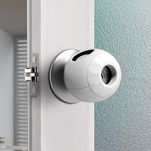 Childproof Door Knob Covers Babyproof (4 Pack) Child Door Locks Door Handle Baby Proofing Door Safety for Kids by AIL...