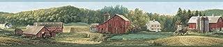 Chesapeake TLL01522B Winder Luther'S Farm Wallpaper Border, Sage