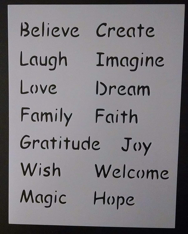 Love Laugh Dream Believe Wish + 8.5