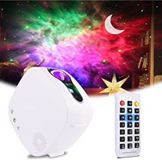 Sky LED Projector Night Light,3-in-1 LED Moon Nebula Cloud Rotating Star Light Galaxy Projector with RF Remote Controller,...