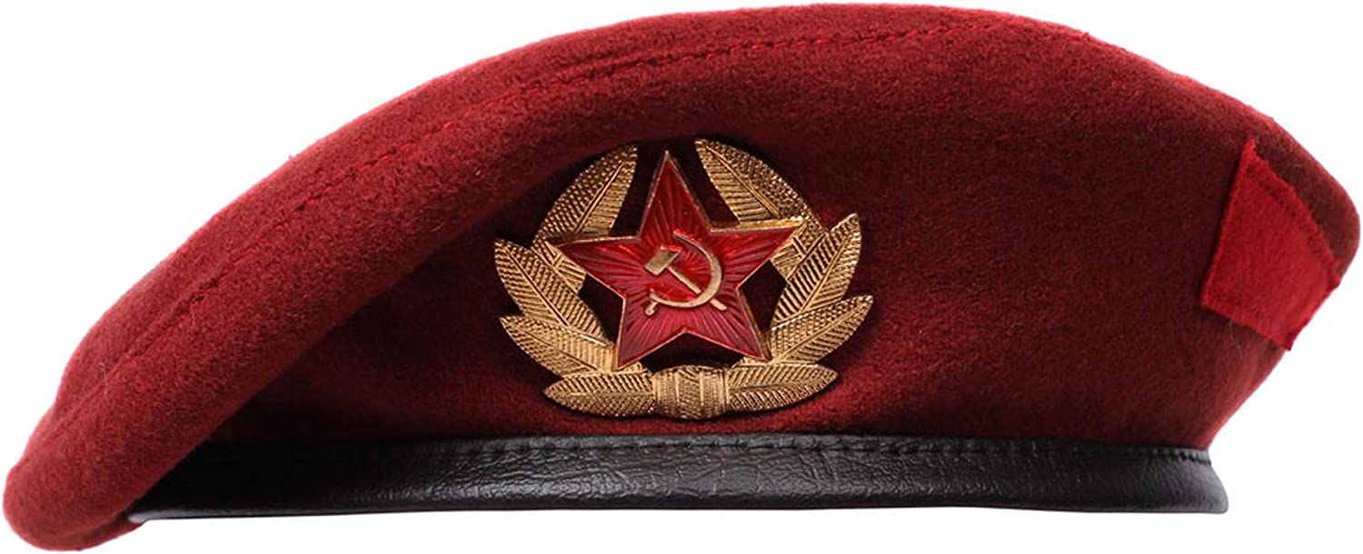 Vintage Russian Spetsnaz beret USSR forces Special woolen Long-awaited famous maroon