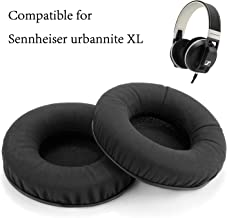 WADEO Replacement Ear Pads Cushions for Sennheiser Urbanite XL Wireless Over-Ear Headphones,Ear Cover Memory Foam Protein Leather Repair Parts,2 Pieces Black