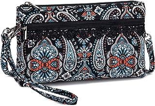 Lam Gallery Fashion Cloth Crossbody Wristlet Purse Handbags Cell Phone Clutch Bag for Womens