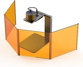 CR-10//20 3D Printer Laser Engraver Module Kit 1.6W Laser Engraving Attachment 12V//24V 450nm Blue-Violet Light with Goggles and Wood Pieces Upgrade for Ender 3//5 Pro Magnetic Design CR-6 SE