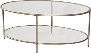 Hillsdale Furniture Corbin Coffee Table with Two Glass Shelves