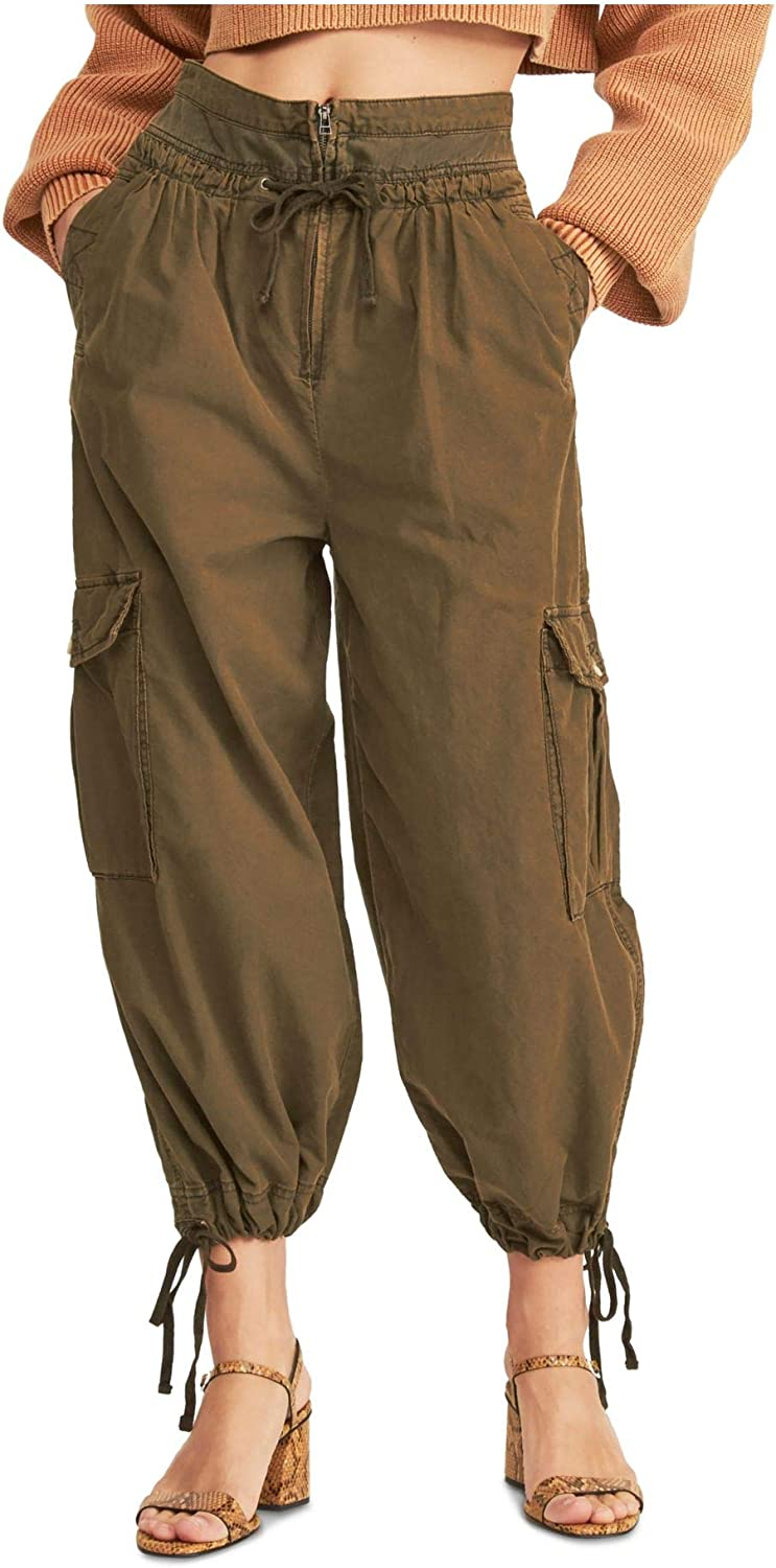 Free People Womens Brown Harem Pants Size 10