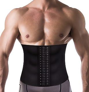 54ac8ff9a2 Wonderience Men Waist Trainer Slimming Body Shaper Belt Support Underwear  Sweat Weight Loss Corset