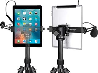 Neewer iPad surfplatta Tripod Mount Adapterhållare, 6,3–9,25 tum/16–23,5 Centimeter justerbar klämma för iPad Mini iPad 2/...