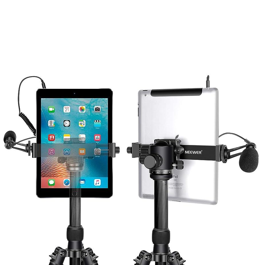 Neewer タブレット三脚マウントアダプターホルダー 6.3-9.25in/16-23.5cm調整可能なクランプ iPadミニ、iPad 2/3/4、iPad Air/Air2、iPad Pro Microsoft Surface Samsung Tab 7.0シリーズに対応