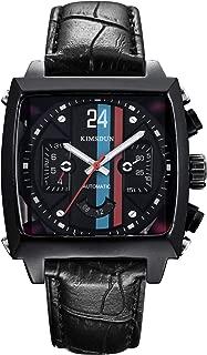 KIMSDUN Fashion Mens Watches Leather Automatic Mechanical core Watch Analog Watch Luxury Watch